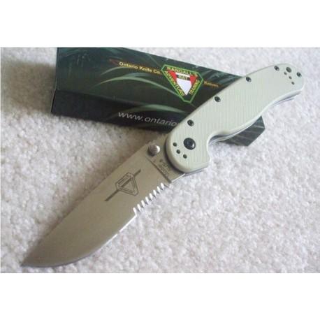 Couteau Ontario RAT-1 Tactical Folding Knife Desert Tan G-10 Handles Acier AUS-8 ON8849DT - Livraison Gratuite