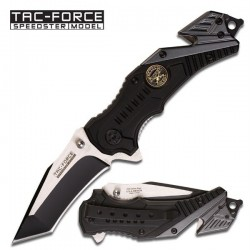 Couteau Tactical Tac-Force Military Sniper Tanto Rescue Survival Linerlock Spring Assisted Knife TF640SN - Livraison Gratuite