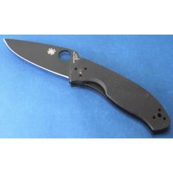 Couteau Spyderco Tenacious Black Acier 8Cr13MoV Manche Black G-10 SC122GBBKP - Livraison Gratuite