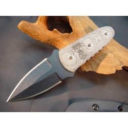 Couteau TOPS Knives Ranger Short-Stop Tactical Acier Carbone 1095 Manche Micarta Made In USA TPRSS01 - Livraison Gratuite