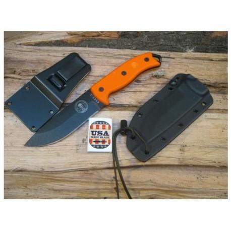 Couteau de Survie ESEE Model 5 RAT5 Orange Acier Carbone 1095 G-10 Couteaux ESEE Made In USA ES5POR - Livraison Gratuite
