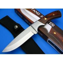 Lot de Couteaux - 3 Couteaux de Chasse Survie Rando Acier 440 Manche Bois CN210915 - Livraison Gratuite