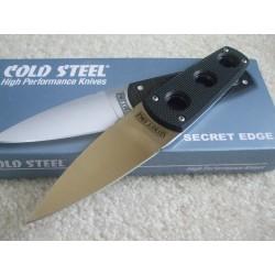 CS11SDT Couteau Cold Steel Secret Edge AUS-8A Manche Faux G-10 Etui Secure-Ex - Livraison Gratuite
