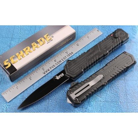Couteau Automatique SCHRADE Viper OTF 3nd Generation Acier 4034 Black SCHOTF3B - Livraison Gratuite