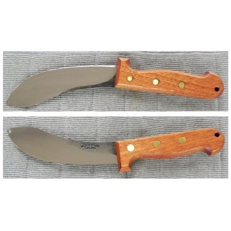 Couteau de Survie Svord Curved Skinner Carbone 1095 Manche Bois bushcraft Made In New Zeland SVCS - Livraison Gratuite