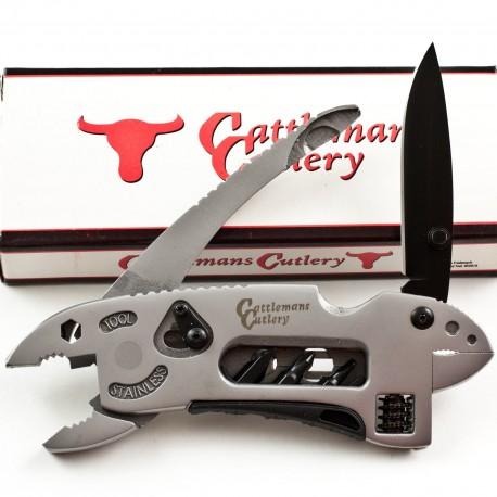 Outil multifonctions Cattlemans Cutlery Multi Tool Clef à molette Pince Tournevis CC0020 - Livraison Gratuite