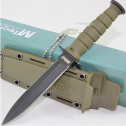 Couteau de Cou Dague Tactical Mini Kabai MTECH Acier 440 MT632DGN - Livraison Gratuite