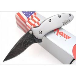 Couteau Kershaw Chive A/O Damas 416 Couches Manche Acier 410 Framelock Made In USA KS1600DAM - Livraison Gratuite