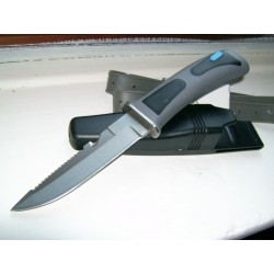 Couteau de plongée Diver's Knife W/Leg Straps Acier Carbone/Inox M3315 - Livraison Gratuite