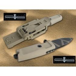 Couteau de Combat Extrema Ratio Shrapnel Desert Lame acier N690 Manche Kraton Made In Italy EX160SHRGOG - Livraison Gratuite