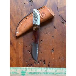 Couteau Anza Whitetail Medium Fabrication Artisanale Manche Bois & Bois de Cerf Made In USA AZ81E - Livraison Gratuite