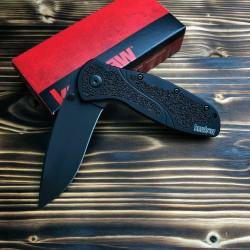 Couteau Kershaw Blur A/O Black Acier 14C28N Tungsten Manche Alu 6061-T6 USA KS1670BLK - Livraison Gratuite