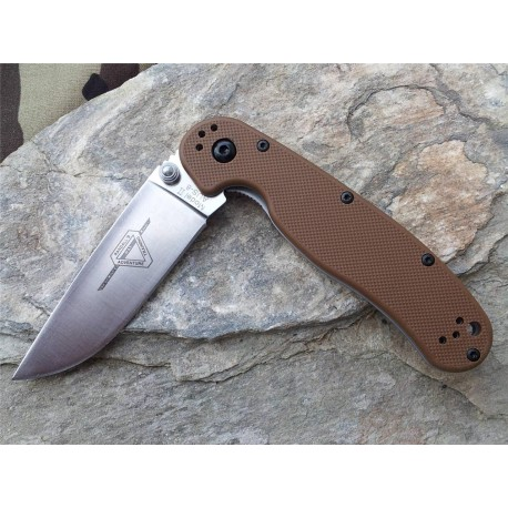 Couteau Ontario Rat II Lame Acier AUS-8 Black Manche FRN Coyote Ontario Rat Model II ON8860CB - Livraison Gratuite