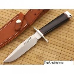 Couteau Blackjack Model 5 Black Acier A2 Manche Micarta Etui Cuir Made In USA BCB5BM - Livraison Gratuite