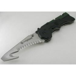 Couteau Smith&Wesson Rescue 3rd Generation Ouverture Assistée Acier Inox Serrated SW911N - Livraison Gratuite