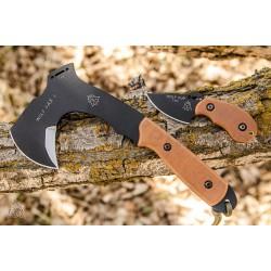 Set Tops Wolf Pax 2 Combo Tomahawk + Couteau Acier Carbone 1095 Etui Kydex Made In USA TPWPAX02 - Livraison Gratuite