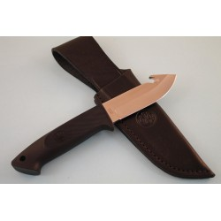 Couteau de Chasse Beretta Loveless Gut Hook AUS-6 Manche Zytel Etui Cuir Made In Japan BE75991 - Livraison Gratuite