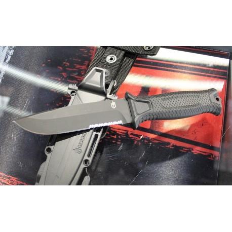 Couteau Tactical/Survival Gerber Strongarm Acier 420HC Manche Fibre de Glass Etui Zytel Made USA G1060 - Livraison Gratuite
