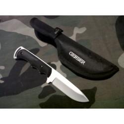 Couteau de Survie Gerber Freeman Guide Lame Acier Inox Manche Fibre de Nylon TacHide G0588 - Livraison Gratuite