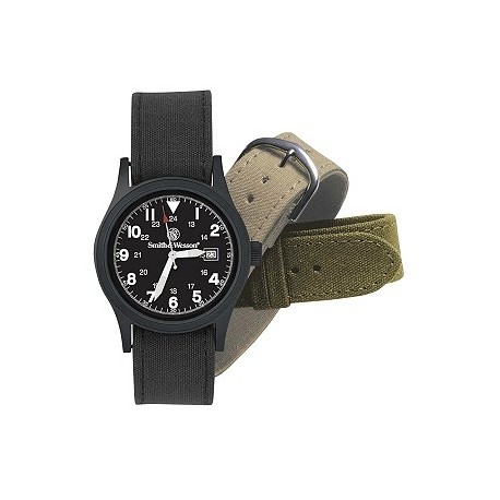 MONTRE SMITH&WESSON BLACK FACE SWW1464BLK MILITARY