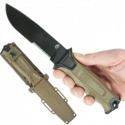 Couteau Tactical/Survival Gerber Strongarm Coyote Acier 420HC Manche Fibre Glass Made USA G1059 - Livraison Gratuite