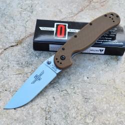Couteau Ontario Rat Model 1 Lame Acier AUS-8 Manche FRN Coyote Brown Ontario Rat-1 ON8848CB - Livraison Gratuite