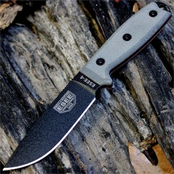 Couteau Esee Model 4 Acier 440C Manche Micarta Etui Kydex + Clip Made In USA ES4PB - Livraison Gratuite