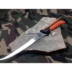 Lot de 3 Couteaux De Chasse Elk Ridge Filet Acier 440 Manche Abs Orange Etui Nylon ER541 - Livraison Gratuite