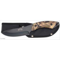 Lot de 3 Couteaux de Chasse Frost Cutlery The Whistler Acier Inox Manche Camo Etui Nylon F16920CAB - Livraison Gratuite