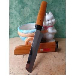 Couteau Japonais Due Cigni Kakugata Lame Acier Carbone/Inox Manche & Etui Bois Made In Japan DCI429F - Livraison Gratuite