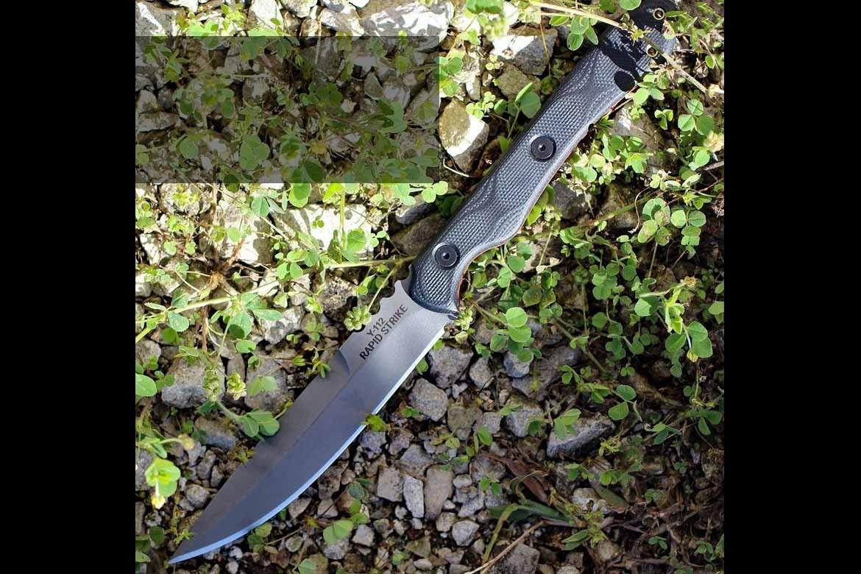 Couteau TOPS Rapid Strike Acier 154CM Manche Black G-10