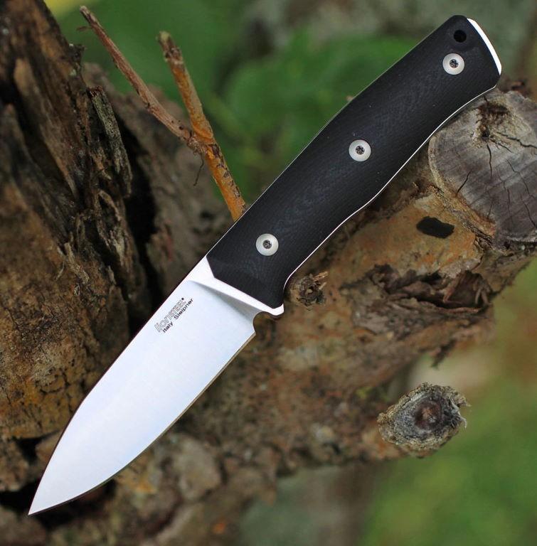 Couteau LionSTEEL B35 Black Lame Acier Sleipner
