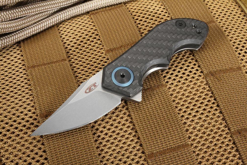 Couteau Zero Tolerance Galyean Acier CPM-20CV Manche Fibre de Carbone