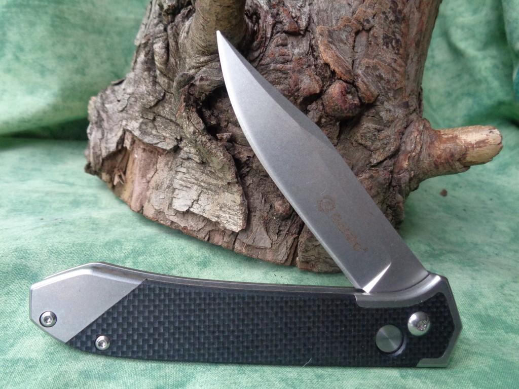 Couteau Automatique Ganzo Acier 440C Manche Black G-10 G719BK