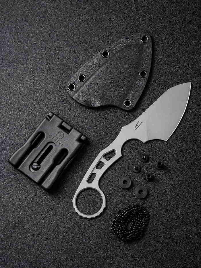 Couteau De Cou CIVIVI Planck Gray
